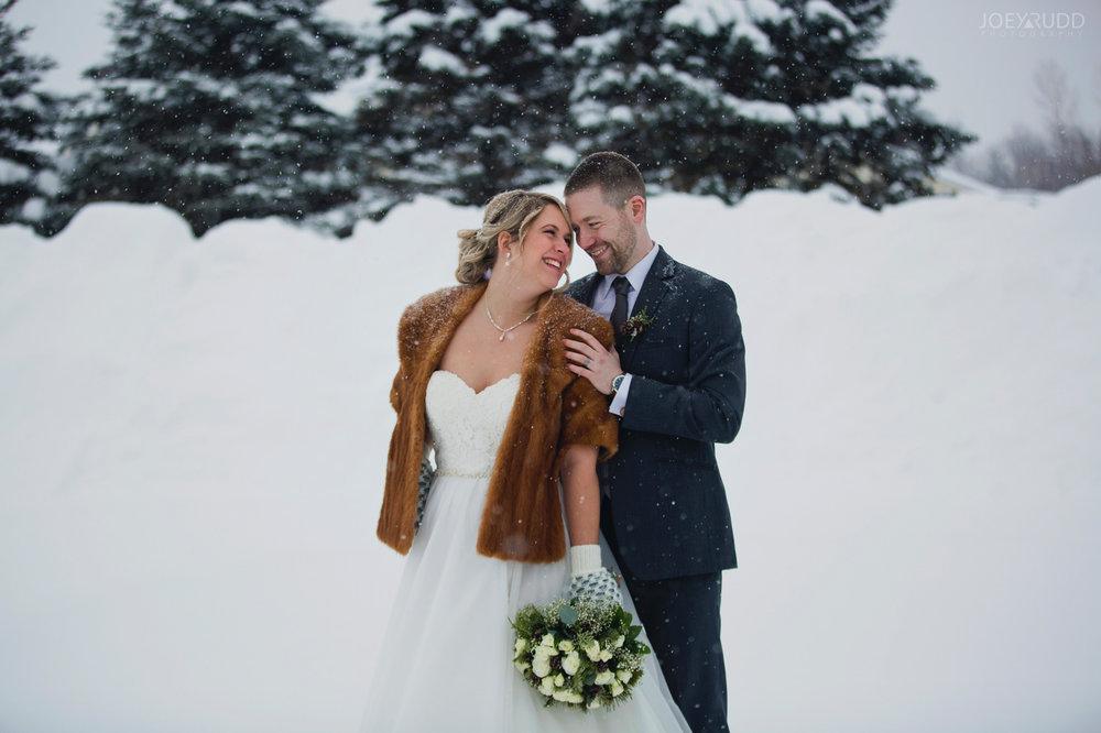 Winter Wedding in Ottawa at Greyhawk Golf Club by Ottawa Wedding Photographer Joey Rudd Photography Bride and Groom