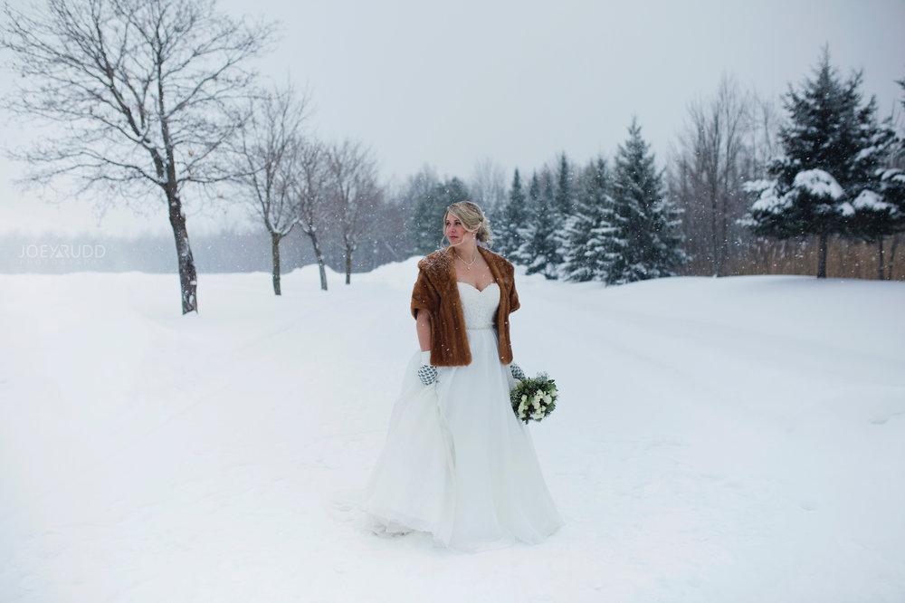 Winter Wedding in Ottawa at Greyhawk Golf Club by Ottawa Wedding Photographer Joey Rudd Photography Snowy Day