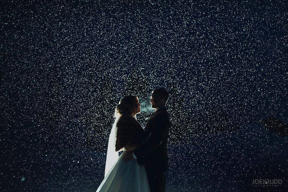 Winter Wedding in Ottawa at Greyhawk Golf Club by Ottawa Wedding Photographer Joey Rudd Photography Snow Night