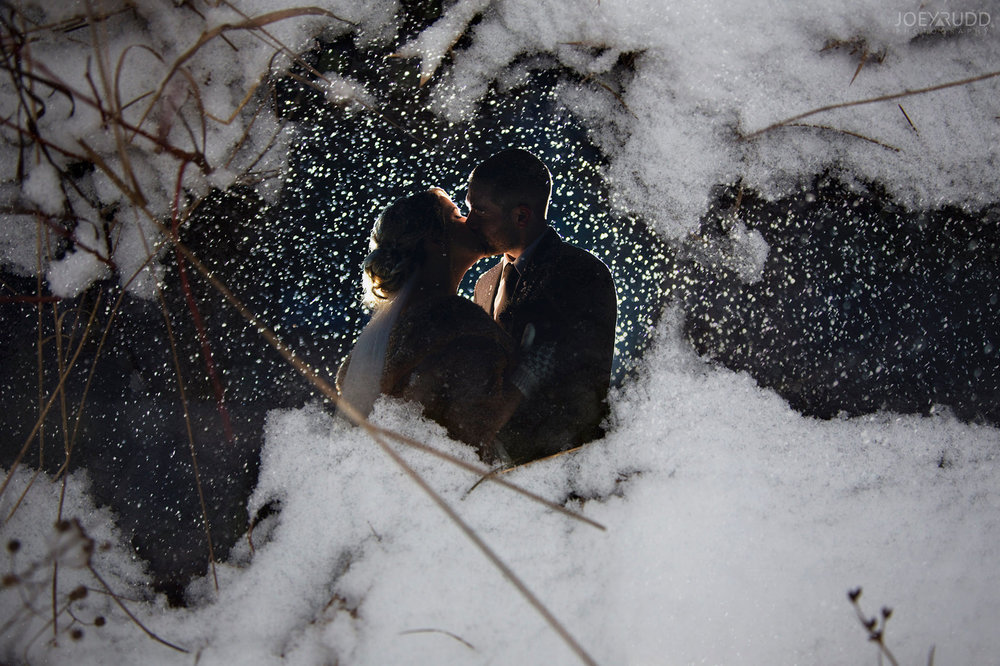 Winter Wedding in Ottawa at Greyhawk Golf Club by Ottawa Wedding Photographer Joey Rudd Photography Winter Double Exposure