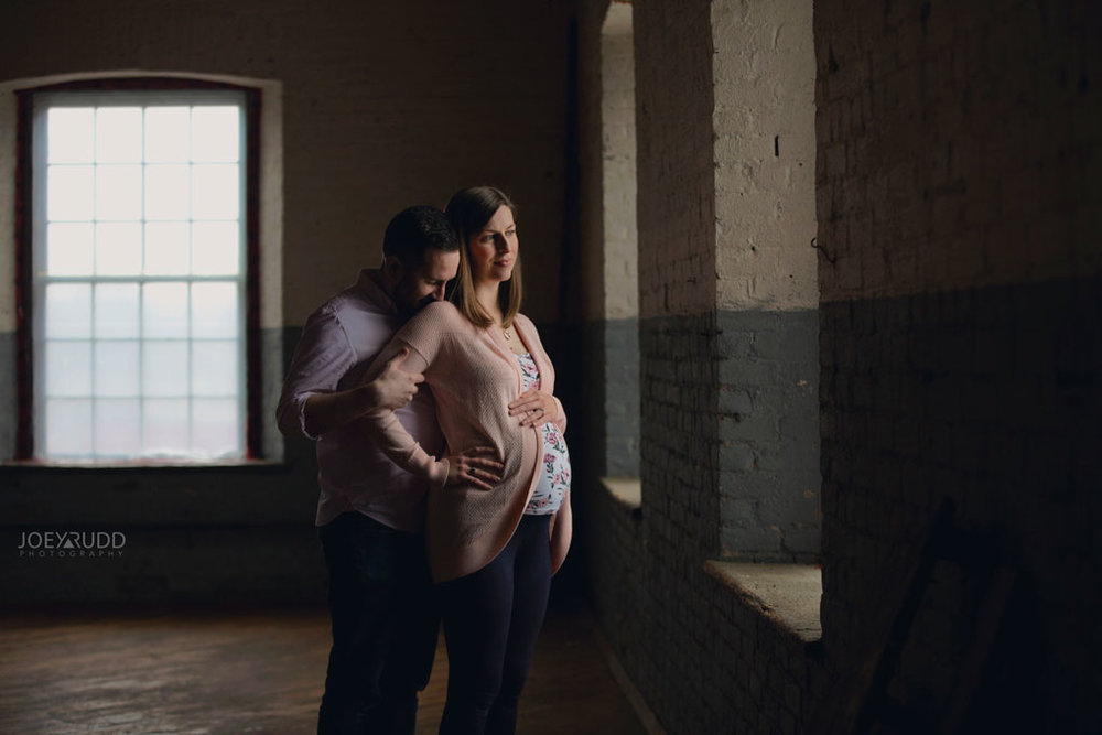 Family photos by Ottawa Photographer Joey Rudd Photography Maternity Mill Industrial Interesting