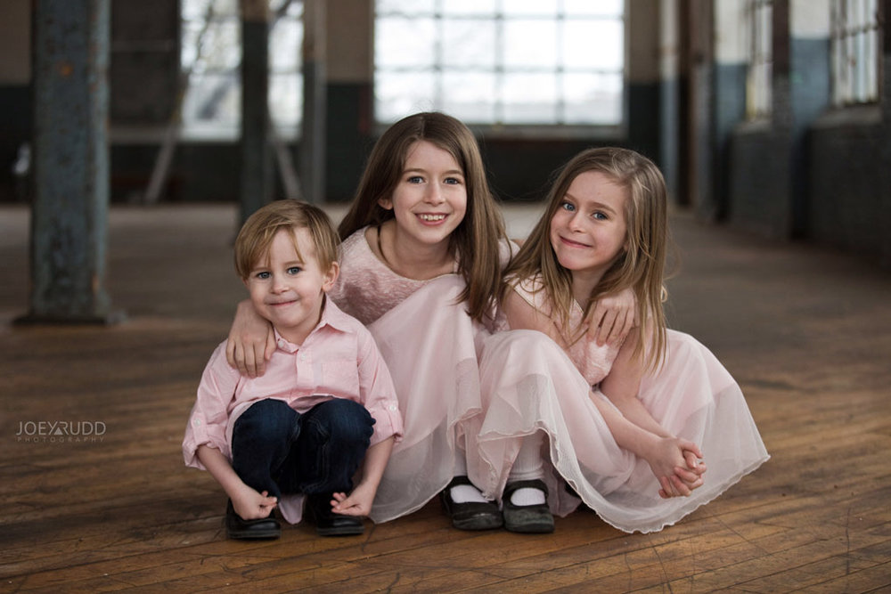 Family photos by Ottawa Photographer Joey Rudd Photography Maternity Mill Industrial Kids Picture