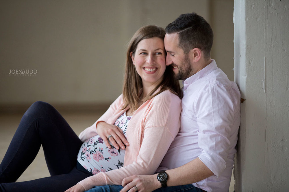 Family photos by Ottawa Photographer Joey Rudd Photography Maternity Mill Industrial Posing