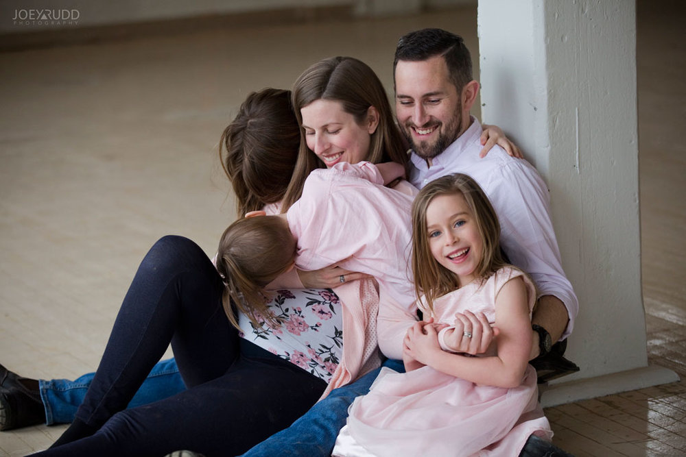 Family photos by Ottawa Photographer Joey Rudd Photography Maternity Mill Industrial Photobomb