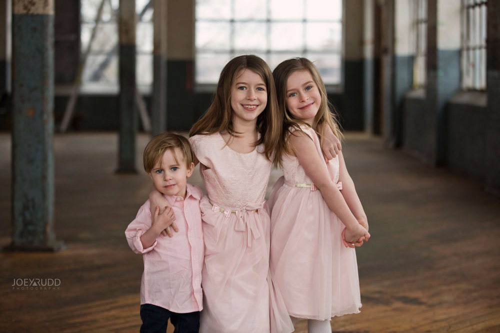 Family photos by Ottawa Photographer Joey Rudd Photography Maternity Mill Industrial Kids Family