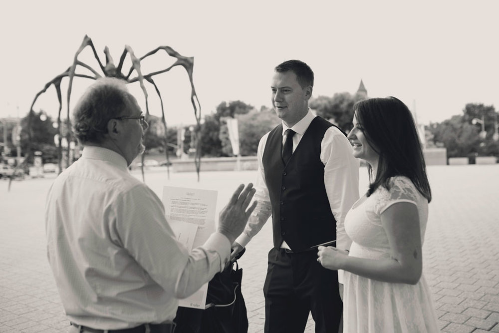 Elopement Wedding Officiant, Elopement Wedding Photographer, Ottawa Wedding Photographer, Ottawa Wedding Photography, Art Gallery