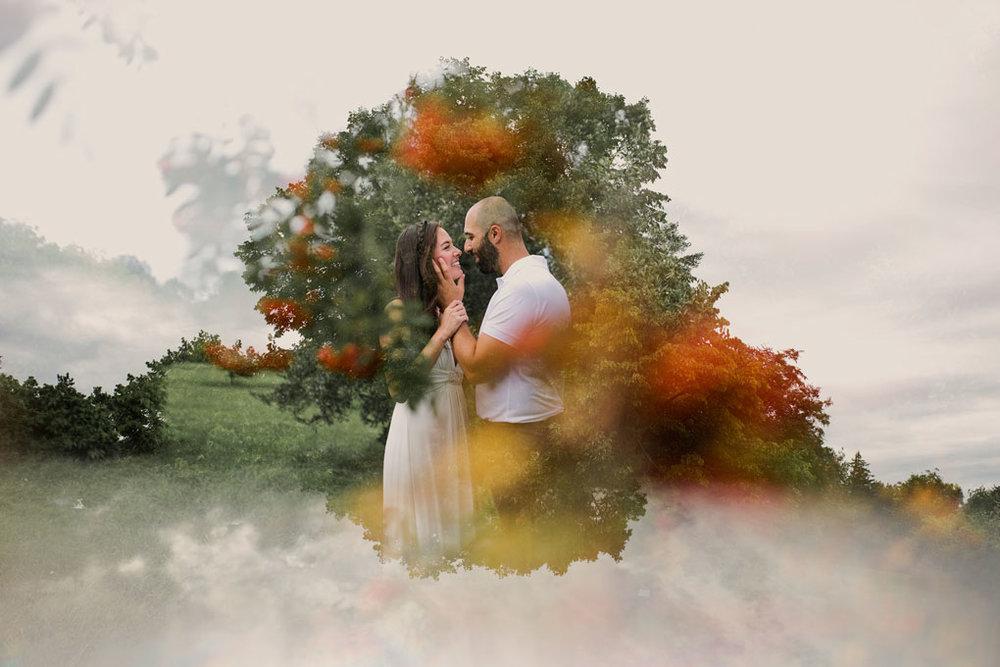 Elopement Wedding Officiant, Elopement Wedding Photographer, Ottawa Wedding Photographer, Ottawa Wedding Photography, Private Wedding Ceremony in a Park, Arboretum , Double Exposure