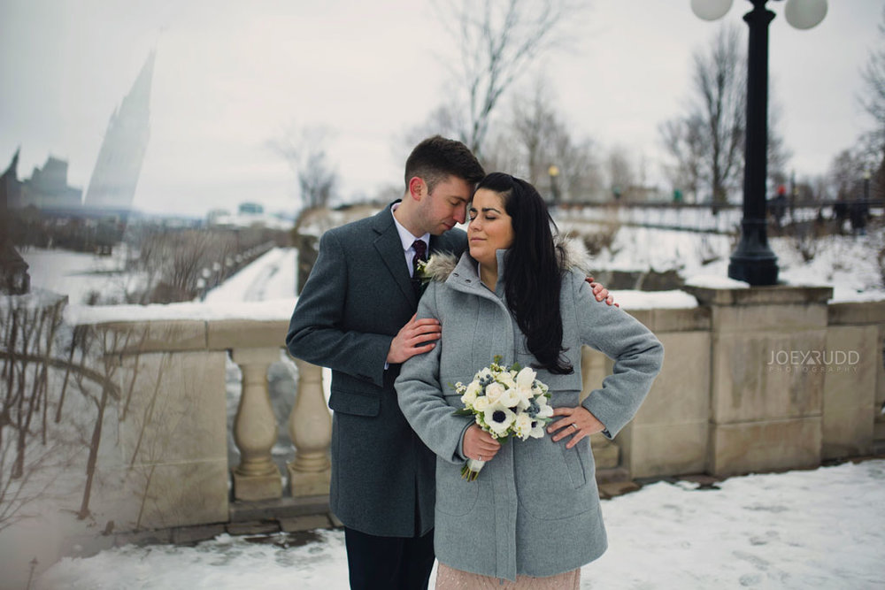 Elopement, Ottawa, Wedding Photographer, Elopement Photographer, Joey Rudd Photography, Downtown Ottawa, Chateau Laurier, Winter