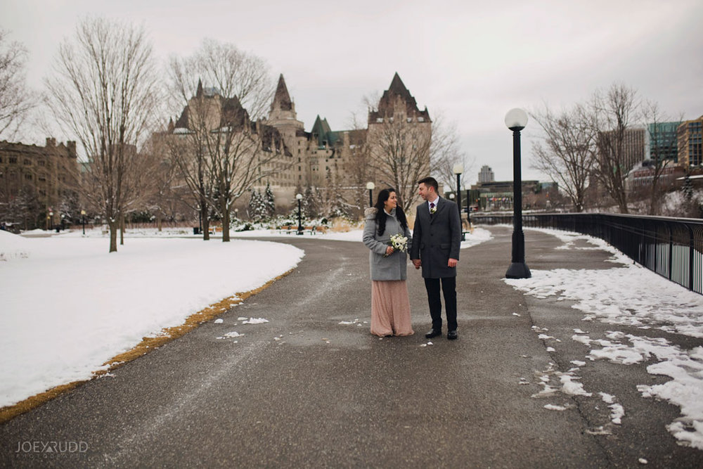 Elopement, Ottawa, Wedding Photographer, Elopement Photographer, Joey Rudd Photography, Downtown Ottawa, Chateau Laurier, Candid