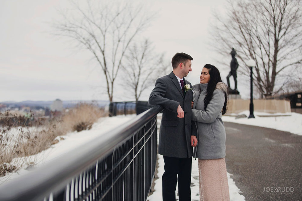 Elopement, Ottawa, Wedding Photographer, Elopement Photographer, Joey Rudd Photography, Downtown Ottawa, Chateau Laurier, Fence