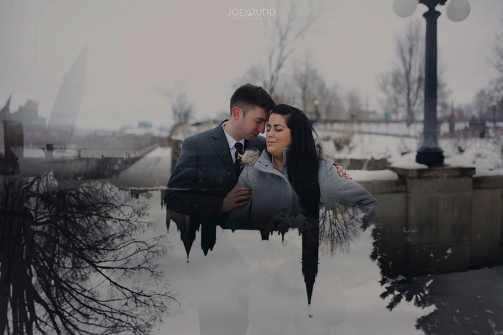 Ottawa, Elopement, Wedding, Wedding Photographer, Joey Rudd Photography, Double Exposure, Multiple Exposure