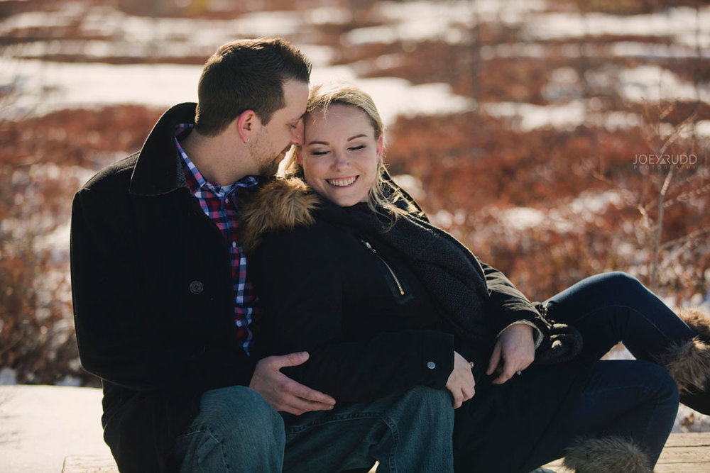 Mer Bleue Engagement, Ottawa Engagement, Engagement Photos, Engagement Photographer, Ottawa Wedding Photographer, Joey Rudd Photography, Ottawa Photographer, Winter Photos, Photo Location, Posing, Bench