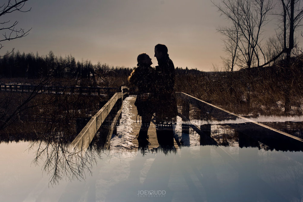 Mer Bleue Engagement, Ottawa Engagement, Engagement Photos, Engagement Photographer, Ottawa Wedding Photographer, Joey Rudd Photography, Ottawa Photographer, Winter Photos, Photo Location, Posing, Multiple Exposure