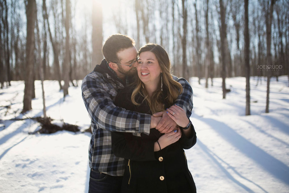 Kemptville Engagement Photos by Ottawa Wedding Photographer Joey Rudd Photography Snow