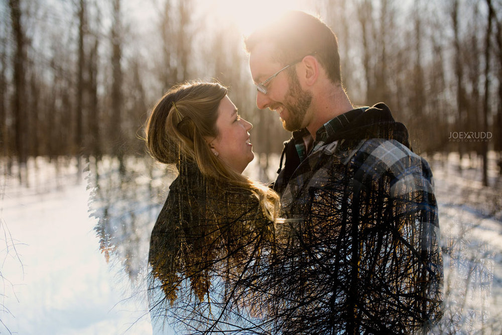 Kemptville Engagement Photos by Ottawa Wedding Photographer Joey Rudd Photography Double Exposure