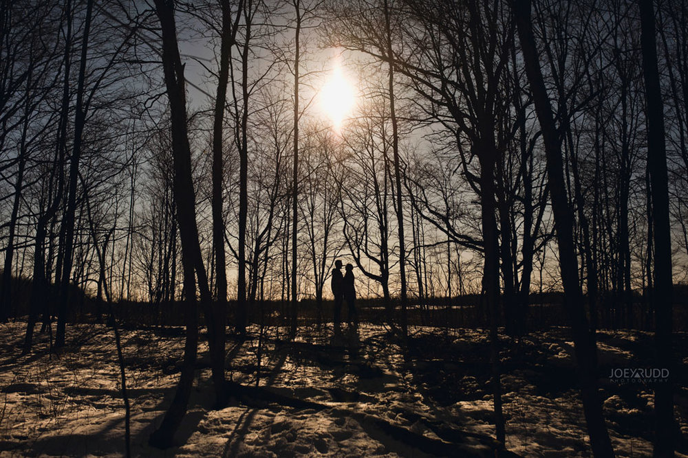 Kemptville Engagement Photos by Ottawa Wedding Photographer Joey Rudd Photography Silhouette
