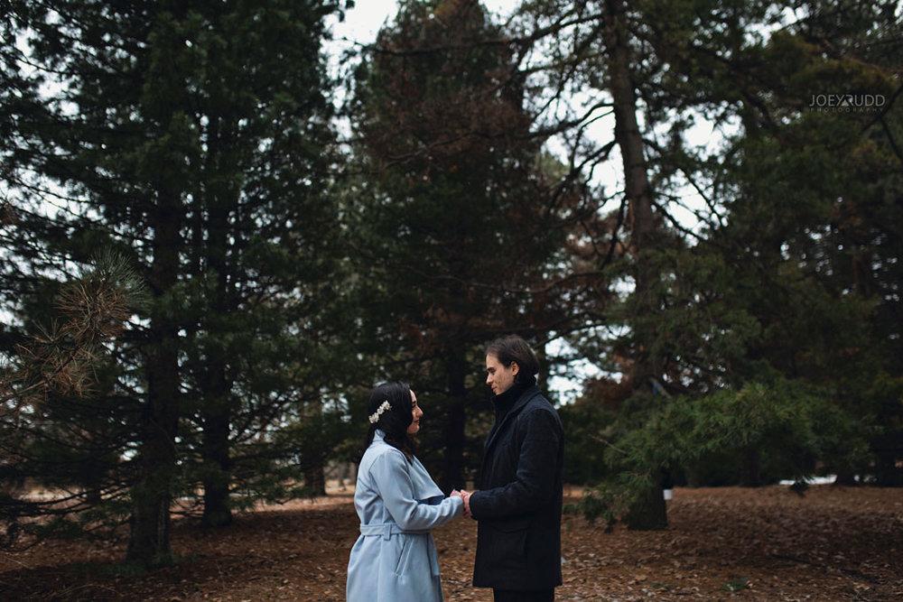 Elopement Wedding by Ottawa Wedding Photographer Joey Rudd Photography, Elopement, Elope, Wedding, Moody, Ceremony, Exceptional Ceremonies