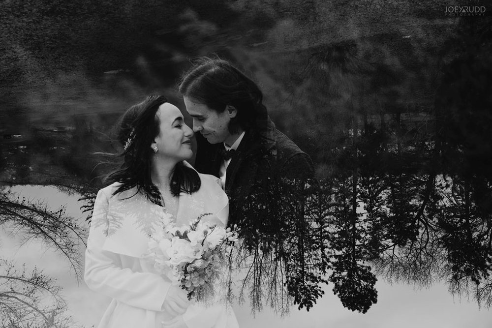 Elopement Wedding by Ottawa Wedding Photographer Joey Rudd Photography, Elopement, Elope, Wedding, Moody, Double Exposure