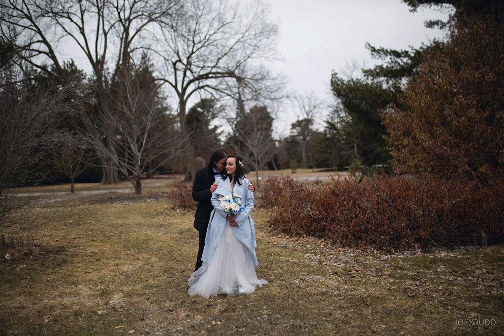 Elopement Wedding by Ottawa Wedding Photographer Joey Rudd Photography, Elopement, Elope, Wedding, Moody, Arboretum,