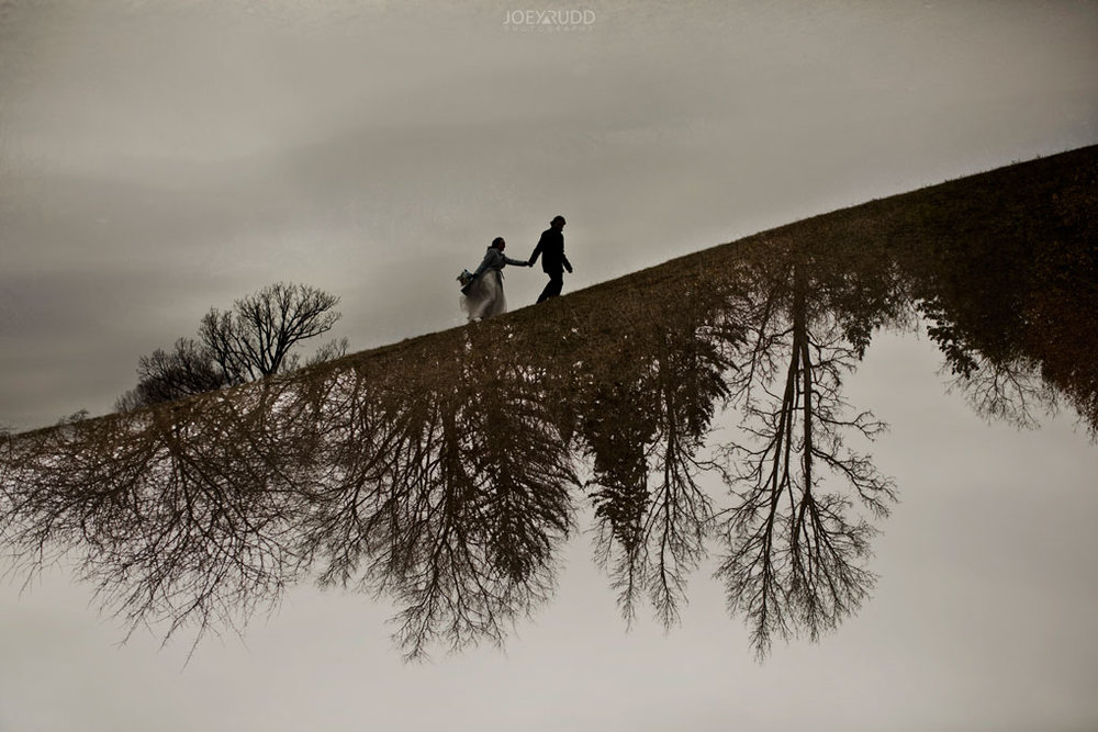 Elopement Wedding by Ottawa Wedding Photographer Joey Rudd Photography, Elopement, Elope, Wedding, Moody, Arboretum, Multiple Exposure