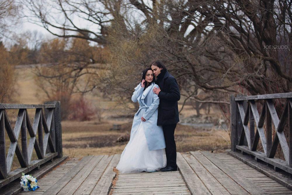 Elopement Wedding by Ottawa Wedding Photographer Joey Rudd Photography, Elopement, Elope, Wedding, Moody, Arboretum, Bridge Outside