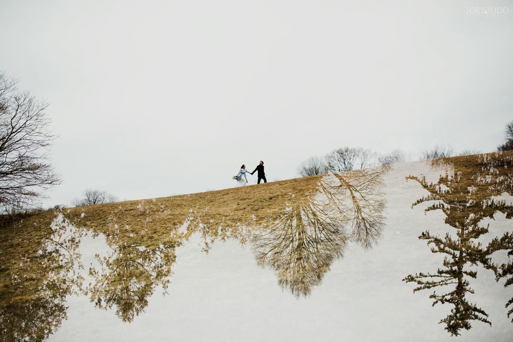 Elopement Wedding by Ottawa Wedding Photographer Joey Rudd Photography, Elopement, Elope, Wedding, Moody, Arboretum, Multiple Exposure, Interesting