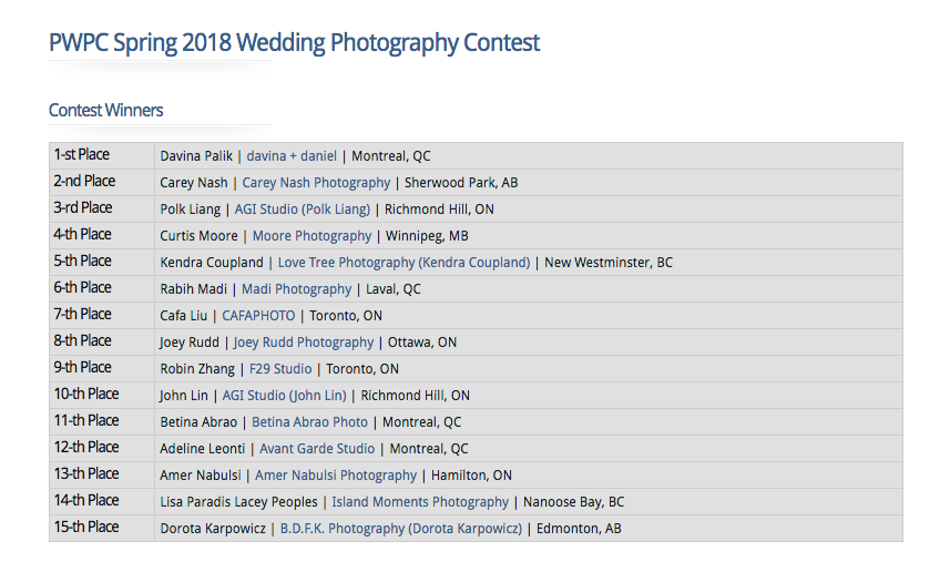 PWPC, Professional Wedding Photographers of Canada, Wedding Photographer, Canada, Ottawa, Best Photographer, Best Wedding Photographer, Ottawa Wedding
