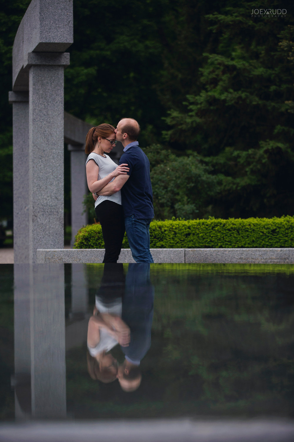 Rideau Hall Engagement, Joey Rudd Photography, Ottawa, Ottawa Engagement, Ottawa Engagement Photos, Fountain, Engaged Ottawa, Wedding Photographer, Wedding Photography, Rideau Park, Photo Locations Ottawa, Places for Photos in Ottawa, Reflection
