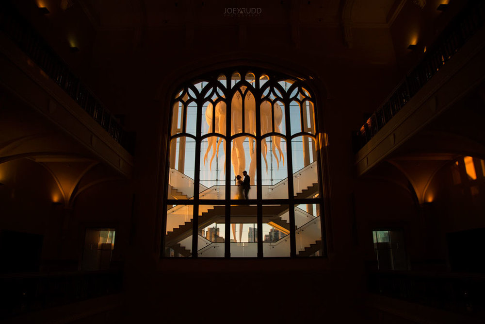 Museum of Nature, St Joseph Parish, Joey Rudd Photography, Tabaret Hall, Urban Wedding Photos, Nature Museum, Wedding Photos, Ottawa Wedding, Ottawa Wedding Photography, Ottawa Wedding Photographer, Bride and Groom, artistic photo, silhouette