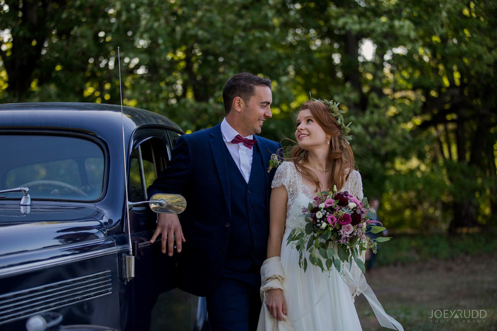 Farm Wedding, Ottawa Wedding, Ottawa Wedding Photographer, ottawa photography, ottawa wedding photography, joey rudd photography, ottawa photographer, wedding photos, wedding photo inspiration, rustic wedding, farm, natural photos, candid wedding photos, bride and groom, posing by old car