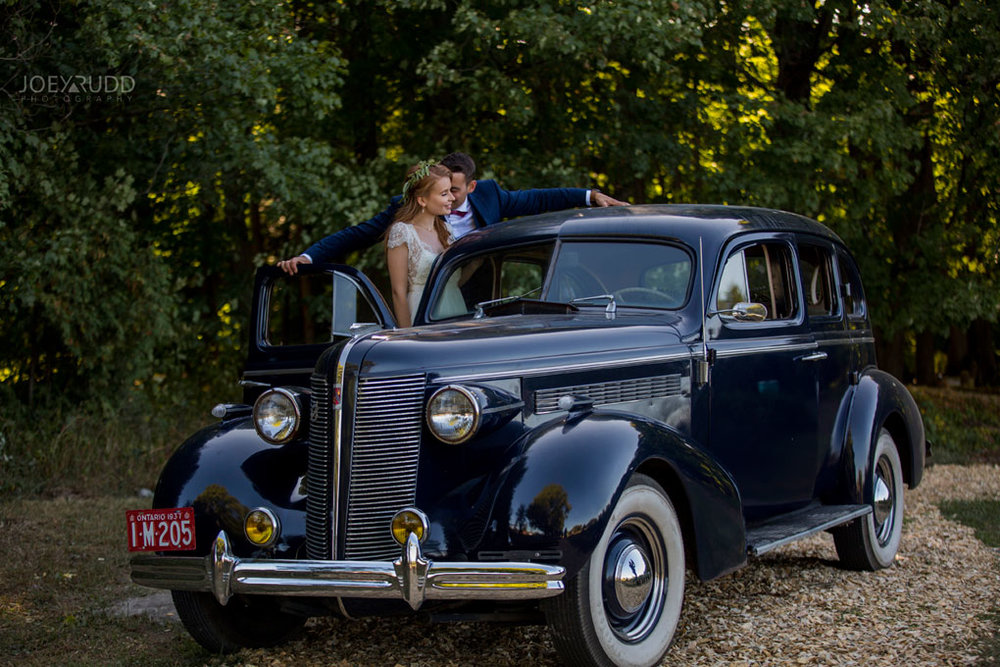 Farm Wedding, Ottawa Wedding, Ottawa Wedding Photographer, ottawa photography, ottawa wedding photography, joey rudd photography, ottawa photographer, wedding photos, wedding photo inspiration, rustic wedding, farm, natural photos, candid wedding photos, bride and groom, posing with classic car