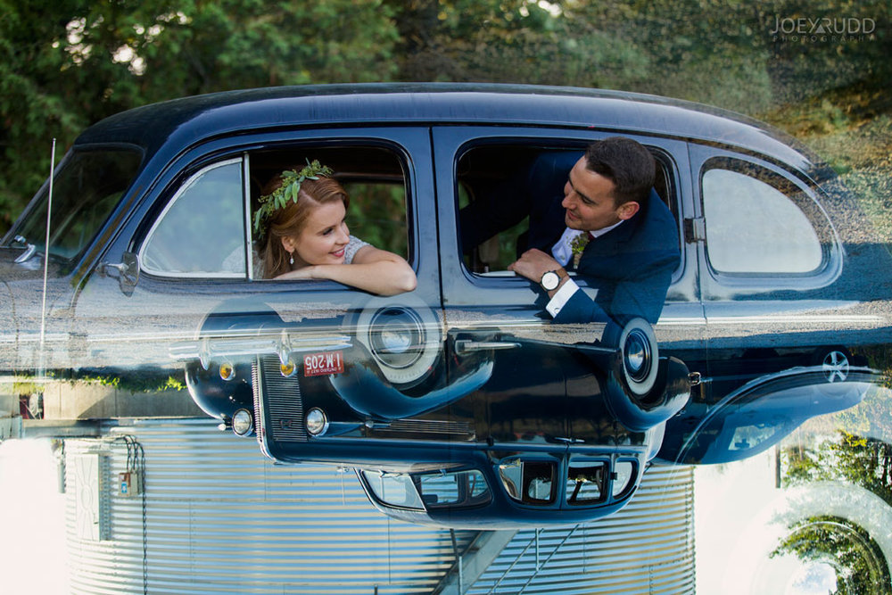 Farm Wedding, Ottawa Wedding, Ottawa Wedding Photographer, ottawa photography, ottawa wedding photography, joey rudd photography, ottawa photographer, wedding photos, wedding photo inspiration, rustic wedding, farm, natural photos, candid wedding photos, bride and groom, wedding photo with old car, wedding party, double exposure, old car