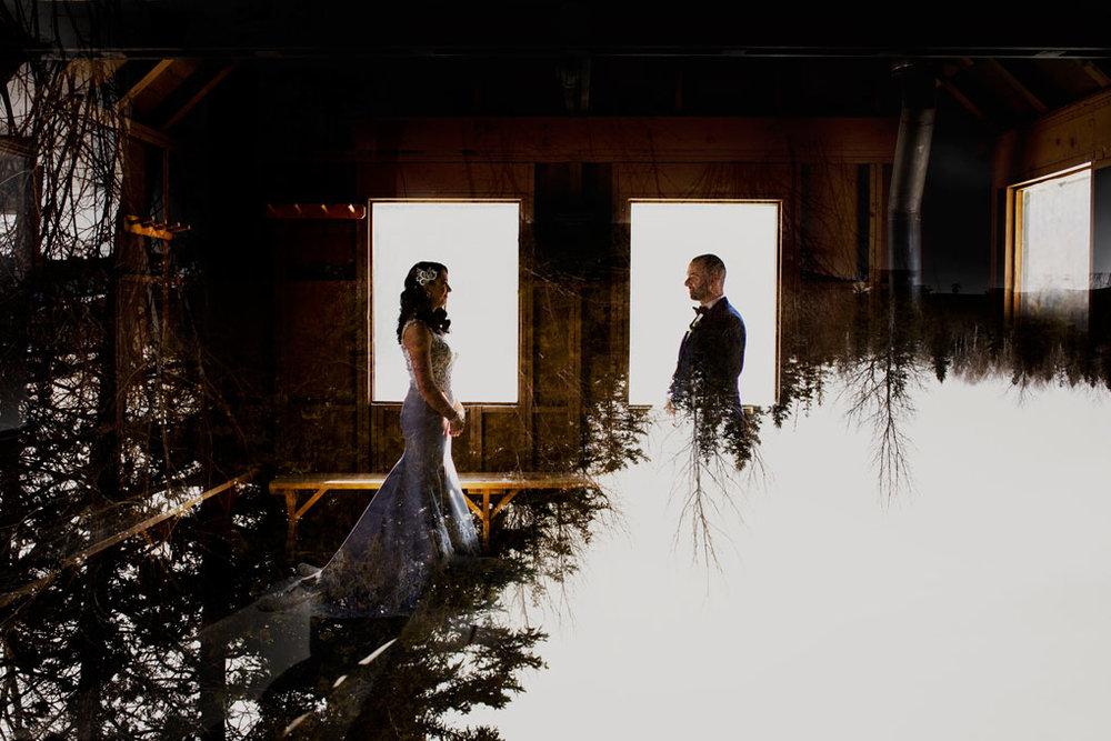 Winter wedding in Ottawa, ottawa wedding, ottawa wedding photographer, ottawa photographer, winter wedding photos, double exposure