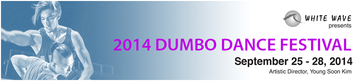 "More exciting news! Excerpts from ""Yo vengo de todas partes, towards everywhere I go"" has been selected to perform at the 2014 DUMBO Dance Festival in NYC, Septemer 25-28, at the John Ryan Theater, located at 25 Jay Steet in Brooklyn.  Click  here  for more information on White Wave and the 2014 DUMBO Dance Festival. More details to come."