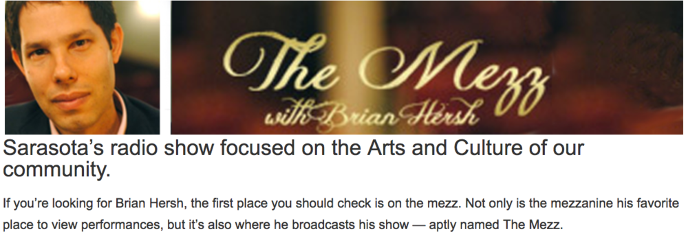 Click on image for more info on The Mezz with Brian Hersh (WSRQ Talk Radio)