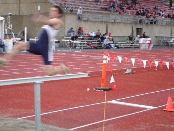 This was before my big injury, one of my first long jumps as a freshman at George Fox University, circa 2006. Took 24 months to recover, but by then my hips and lower back had already started ailing me.