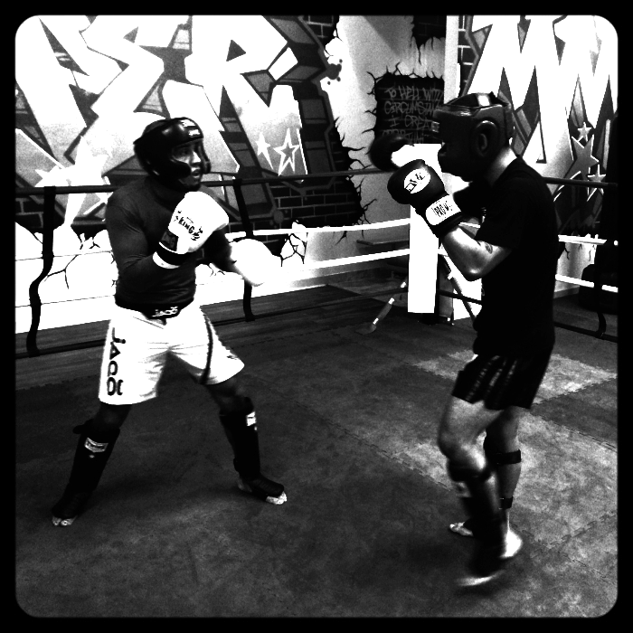 Fighter Sparring Training