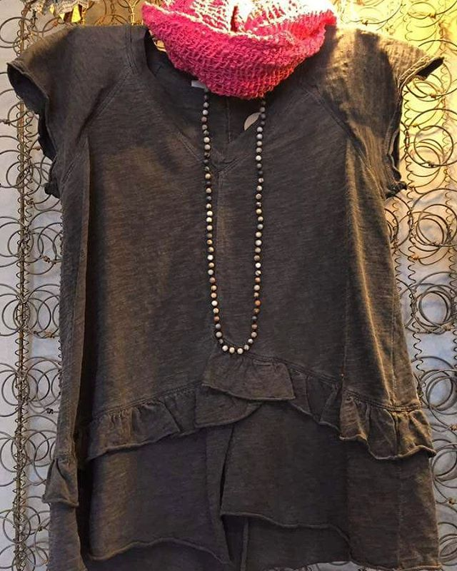 A cute ruffle tee from #wilt.