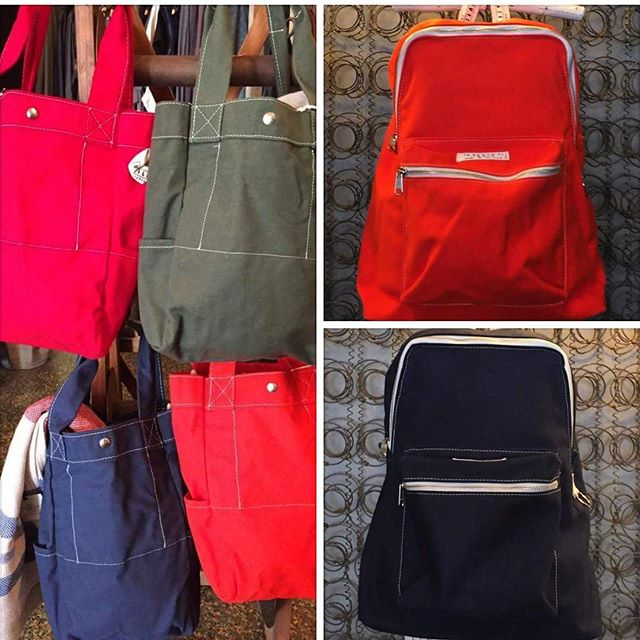Great new Utility backpacks and totes, all made of canvas. Super sturdy!