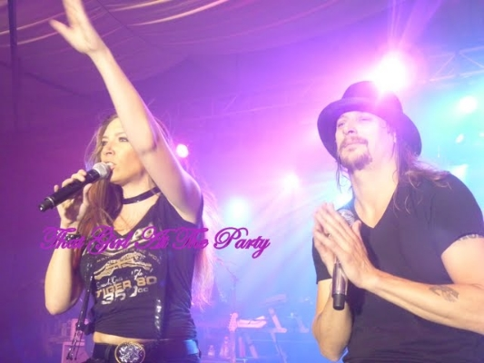 Singing with Kid Rock