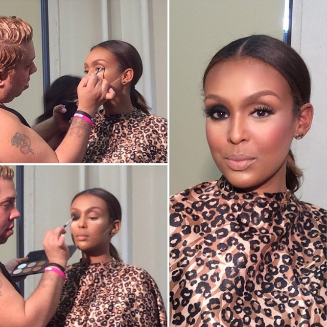 """Renny Vasquez teaching at his """"Catch the Beat"""" hands-on makeup workshop"""