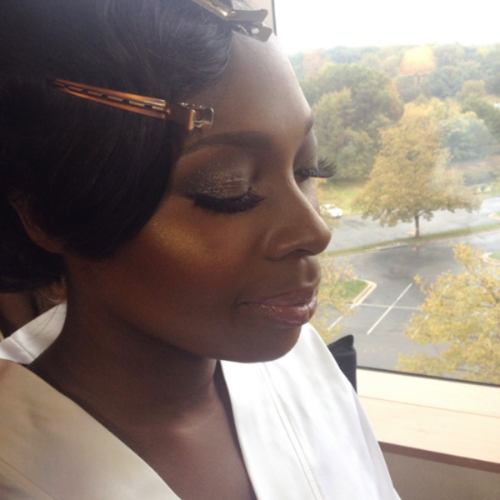 Maryland Bride Khalila K. Makeup by Tiyana Peters.