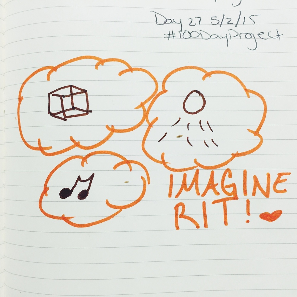 027/100 Imagine    Imagine RIT is one of my absolute favorite festivals of all time. This was my last year experiencing it as a student, but I have no doubt I'm coming back in the future to see what amazing things we RIT students are up to. I learned a TON about 3D Printing as well as Music Engineering- I really am grateful for that; grateful to learn about things completely out of my realm but no less fascinating.     #100DayProject #100DaysofFeelingbyMariah #experiencethefuture