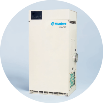 ML690 - 690m3/hr   The ML690 is a versatile dehumidifier used for all applications which need up to 690m3/hr in capacity. The ML690 was recently used down in Temuka to keep milk powder drums dry during production.
