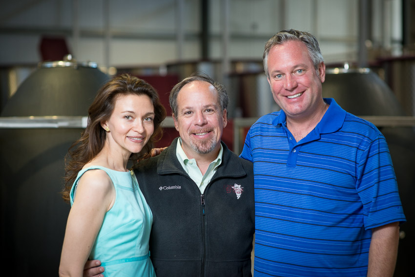 Diana Karren, Charles Karren and winemaker Michael Browne
