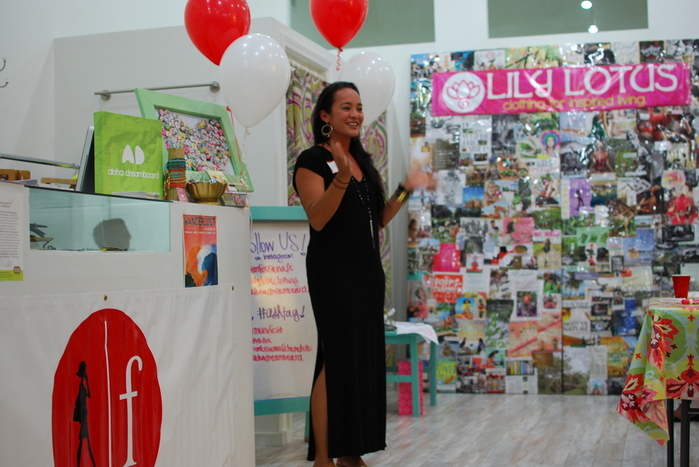 Owner of Lily Lotus, Momi Chee, shares her story to the women of Femfessionals in Honolulu - Photo Courtesy Nicole Kato