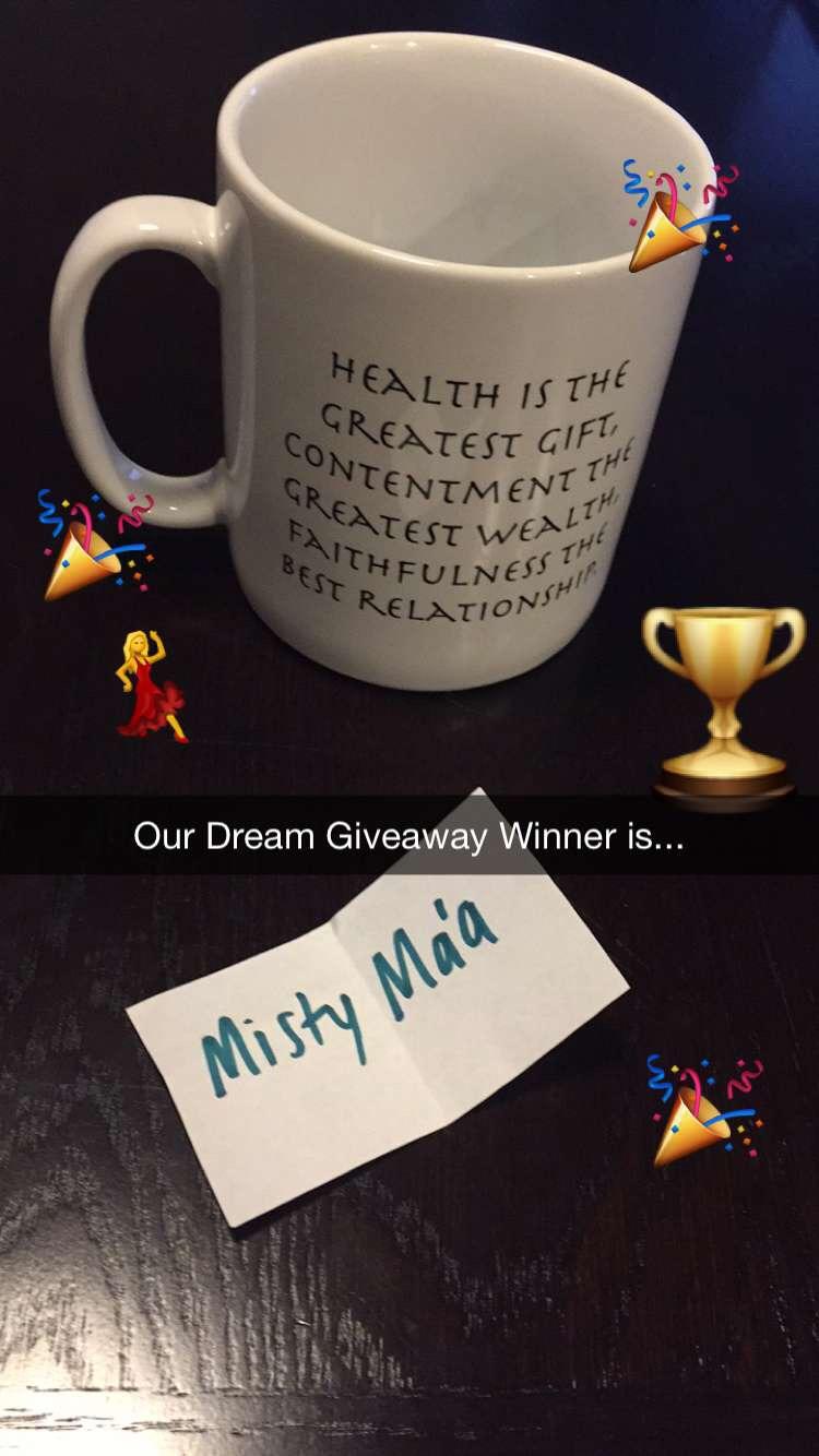 Aloha Dreamboard Dream Giveaway Winner February 2016