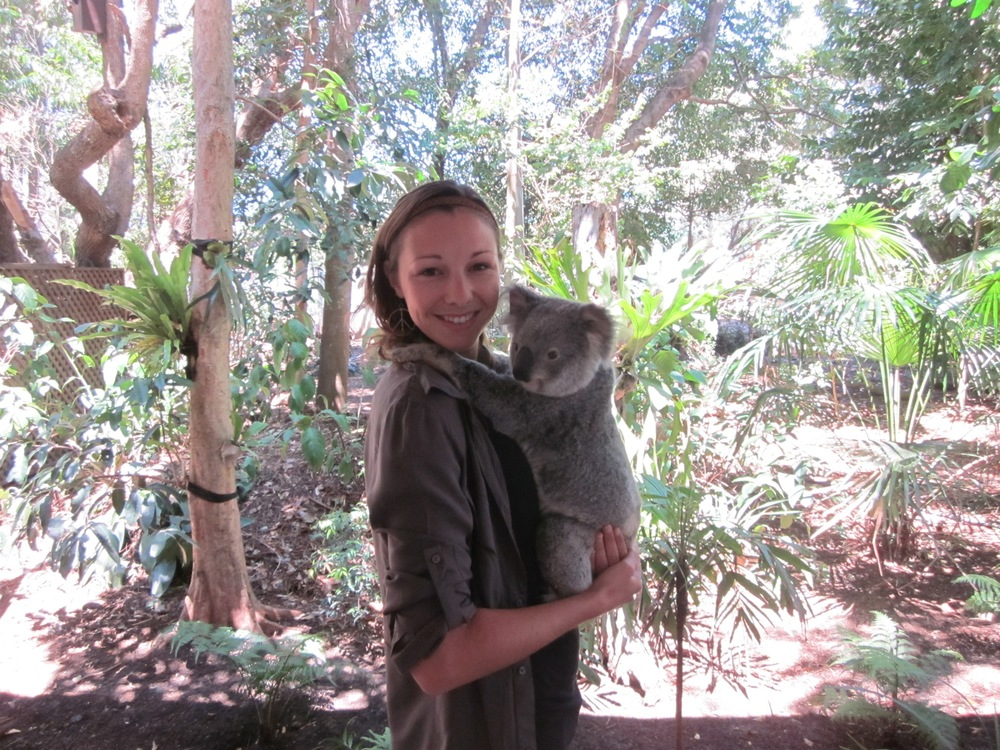 Hanging with the locals at the Koala Sanctuary