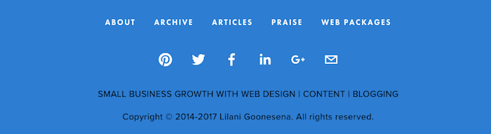 21 Ways To Get The Most From Your Facebook Business Page | Add your Facebook icons to your website footer so they're accessible on every page https://www.lilanigoonesena.com/blog/21-ways-get-most-facebook-business-page