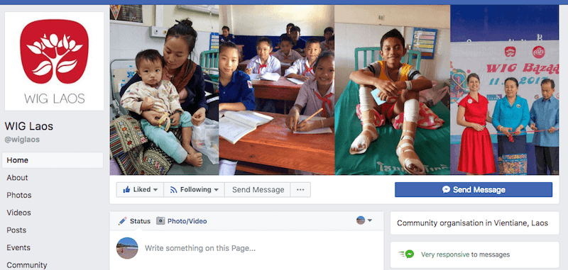 One of my projects here in Laos was managing social media for a local charity group; personally rewarding yet unsustainable for my business
